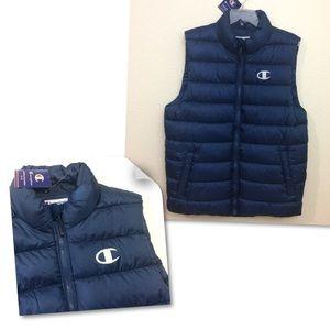 Champion Men's Puffer Vest Full Zip Pockets